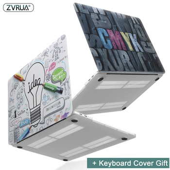New Print Fashion Personality Laptop Case For MacBook Air Pro Retina 11 12 13 15 inch with Touch Bar + Keyboard Cover