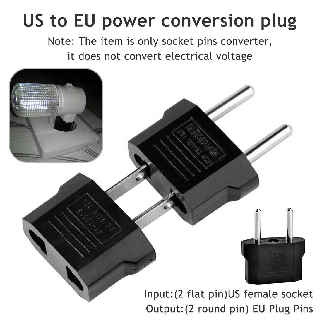 Europese Eu Stekker Adapter Amerikaanse China Japan Ons Eu Euro Travel Adapter Ac Power Cord Charger Sockets outlet