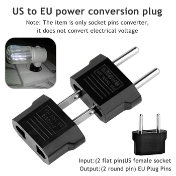 European EU Power Electric Plug Adapter American China Japan US To Euro Travel AC Cord Charger Sockets Outlet - discount item  15% OFF Electrical Equipment & Supplies