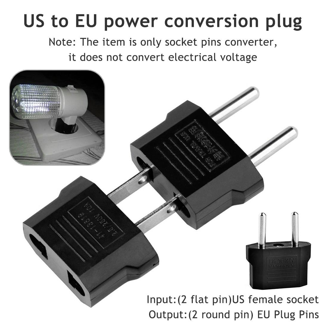 Europeu ue energia elétrica plug adaptador americano china japão eua para ue euro adaptador de viagem ac cabo de alimentação carregador soquetes tomada