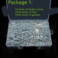 2019 Drywall Tornillos Para Madera Axk 1pack Home Screw Nut Cap Set Self Tapping Nail Box Cross Half Pan Head Bolt Mix M3m4m5m6