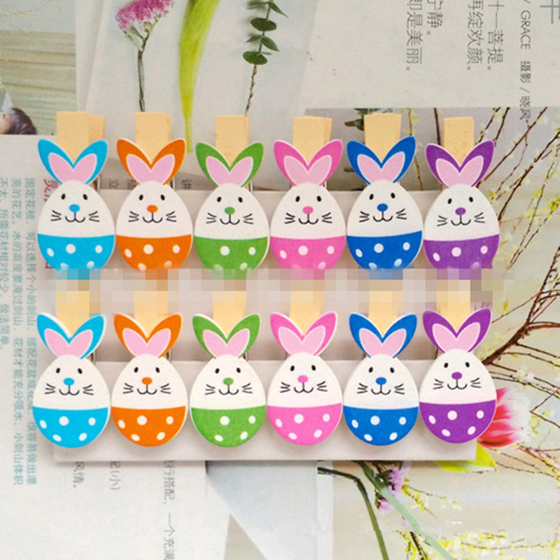 1pc Handmade Easter Nest Peg Egg Bunny Chick Crafts Gift Tags Decor Decoration