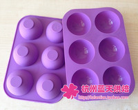Wholesale,50 pcs Silica gel cake mould semi-cirle mould baking mold diy