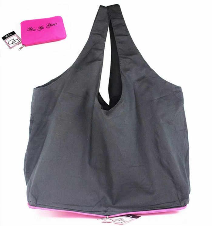 c1452b359e Cotton Fabric customization Foldable Shopping Bag Travel Handbags  Eco-friendly Supermarket Shopping Bag Foldable Grocery
