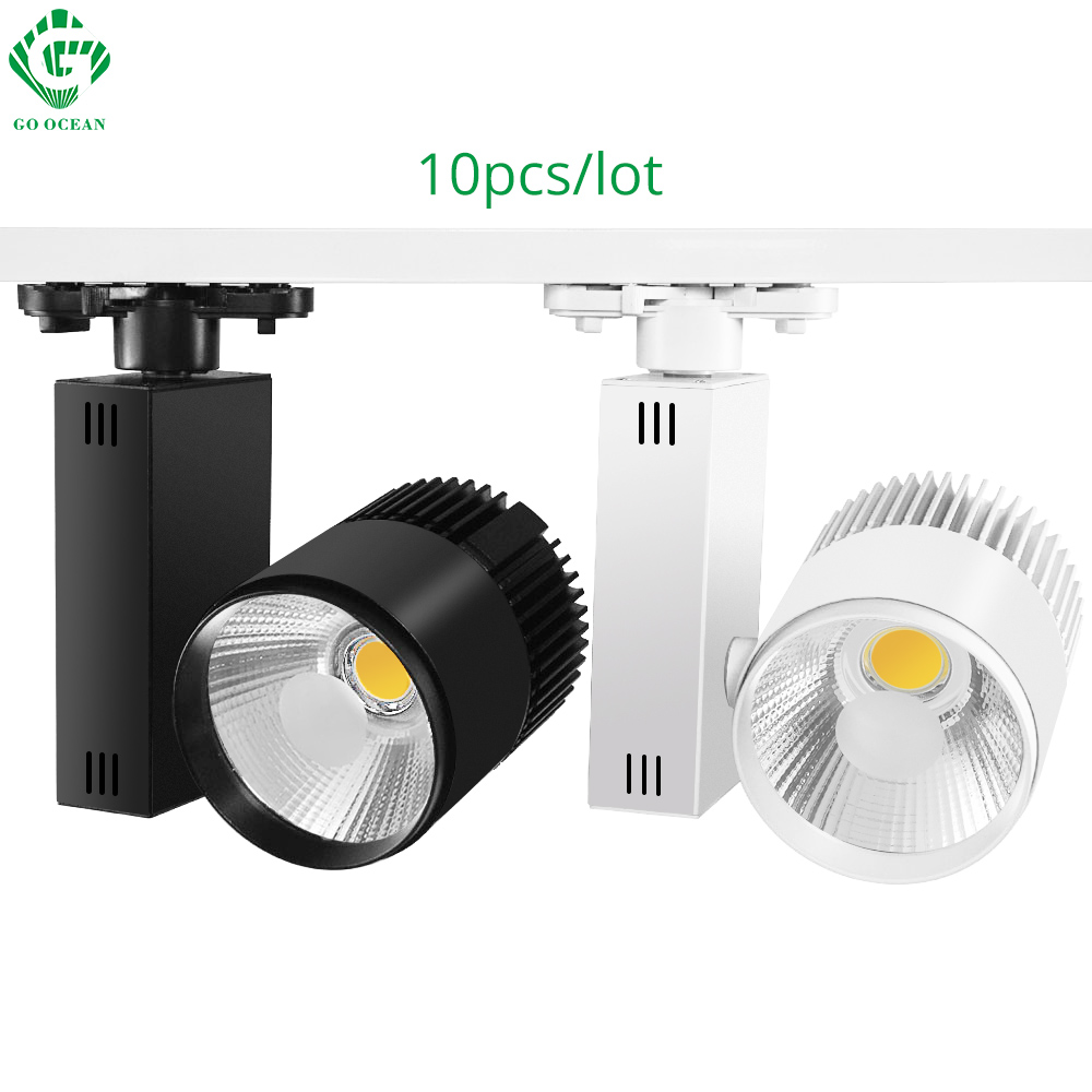 Lámparas de pista LED Iluminación de la cocina Lámpara Moderna Spot Rail 10pcs / lot 20W Reflectores de seguimiento flexible para tienda de ropa
