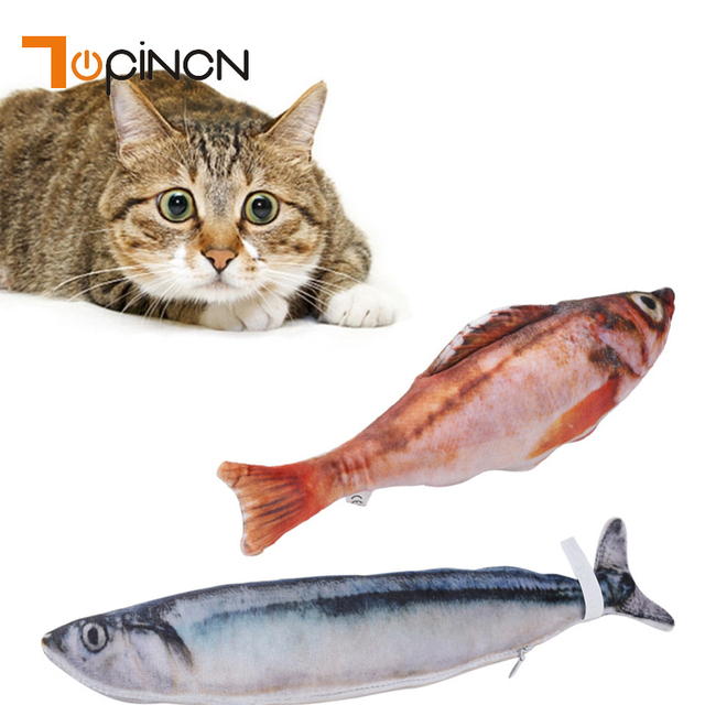 jouet chat poisson