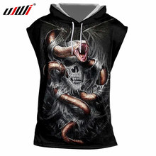 UJWI 3DFashion Tanks Unisex Galaxy Space Tanktop Snake Skull Singlets Man Bodybuilding Fitness Sleeveless Hoody Tracksuits 7XL(China)