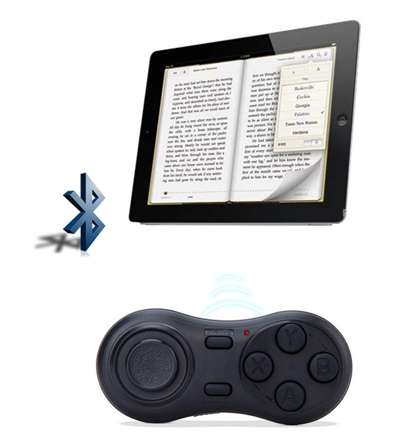 YOTEEN Bluetooth Gamepad iOS Android VR Game Controller Joystick Selfie Shutter Remote Control for Phone PC TV box Smart TV Game 8