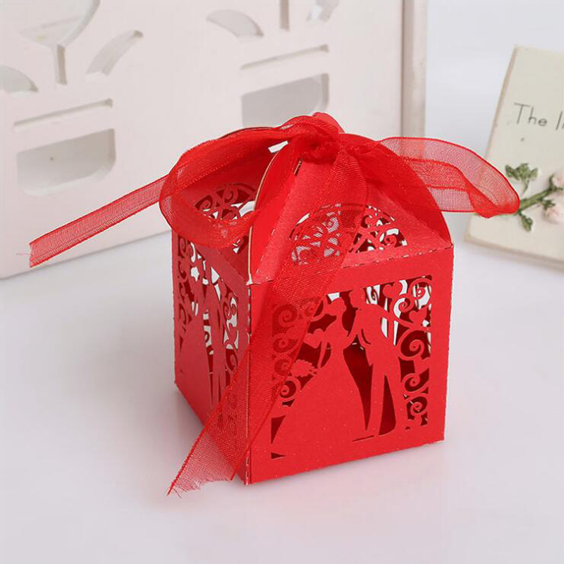 100pcs Wedding Candy Box Sweets Gift Favor Boxes Party Decoration