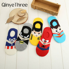 23c12e05c182 Superman Batman Captain USA classical cartoon summer style happy socks  character pattern Superheroes socks for man · 5 Colors Available