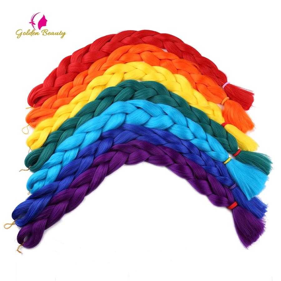 Hot Sale Golden Beauty Jumbo Braids Synthetic Crochet Hair