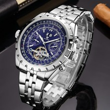 OUYAWEI Brand Self Wind Mechanical Watch Men Shock Resistant Stainless Steel Wristwatch Fashion Dress Business Relogio Masculino цена и фото
