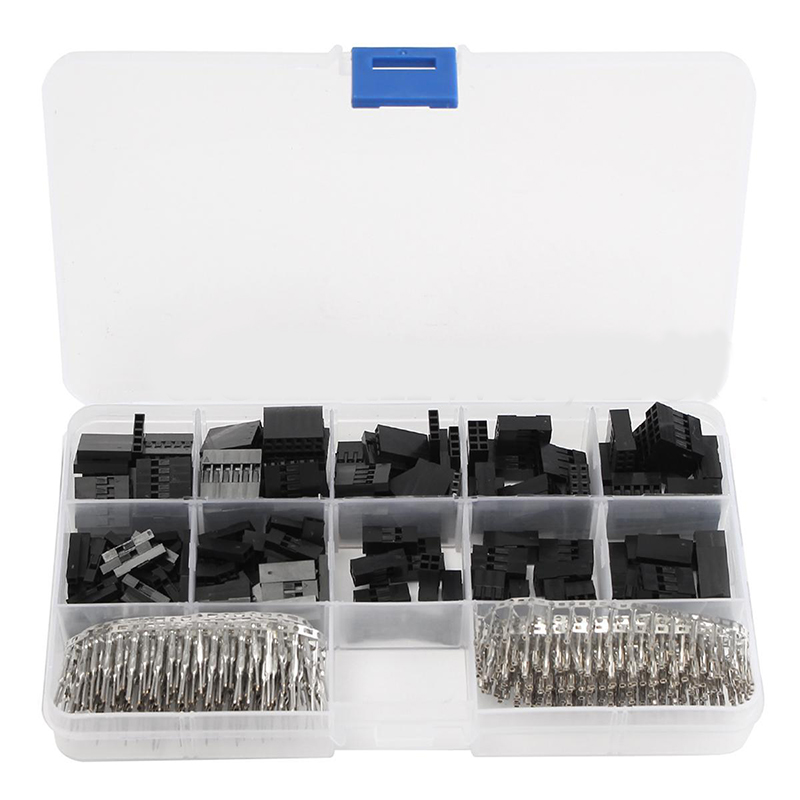 610pcs 2 3 4 pin connector For Dupont Jumper Housing Connectors Header 2.54 mm wire cable Male Crimp Pins Female Pin Terminal610pcs 2 3 4 pin connector For Dupont Jumper Housing Connectors Header 2.54 mm wire cable Male Crimp Pins Female Pin Terminal