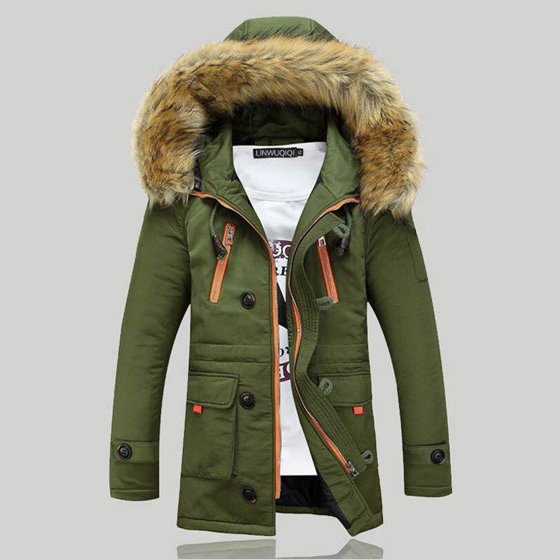 Nouveau hiver hommes s Parka vêtements épaissir coupe-vent mâle chaud manteau avec fourrure à capuche adolescents amoureux coupe-vent doudoune