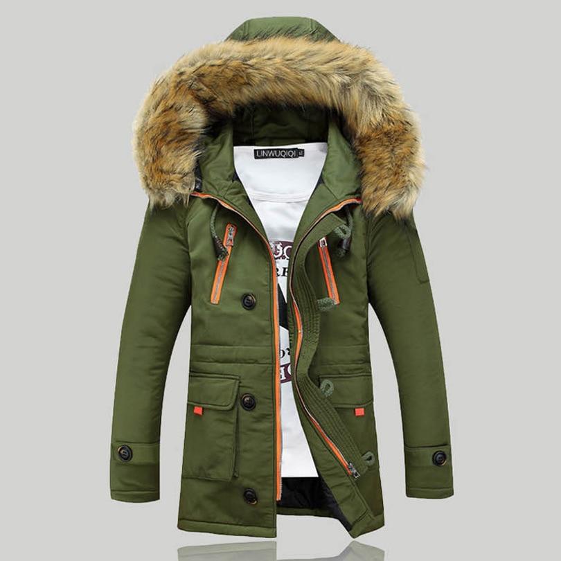 Nouvelle Hiver Hommes s Parka Vêtements épaissir Coupe-Vent homme Manteau chaud Avec Fourrure À Capuche adolescents lovers Coupe-Vent vers le bas veste