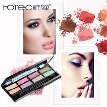 ROREC Eye Shadow Palette Glitter&Shimmer 8Colors Glamorous eye shadow makeup palette highlighter light eyeshadow cosmetics brush