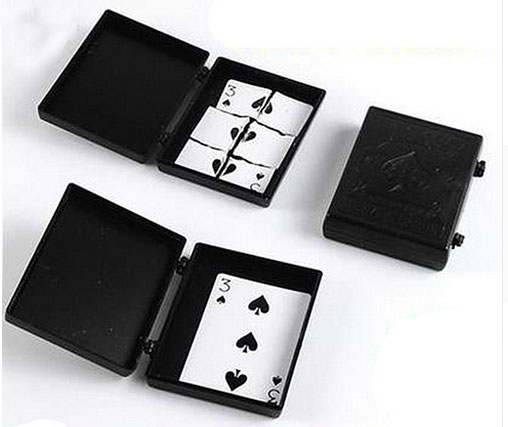 Tear into pieces of the card is restored to the original professional magician magic box 400magic