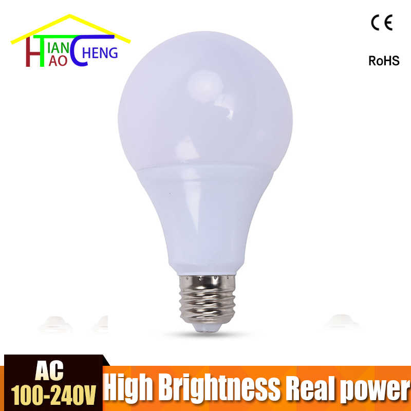 Real Power LED Bulb E27 220V 110V 3W 5W 7W 9W 12W 15W 18W LED Light Cold White Warm White Lampada Ampoule Bombilla Lamp Lighting