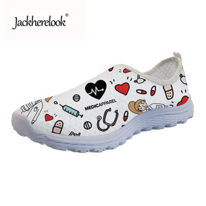 Image 1 - Jackherelook Premium Sketch hospital Women Sneakers Flats Casual 3D Nurse Summer Fashion Ladies Light Weight Comfortable Loafers