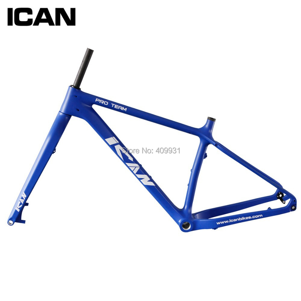 ICAN BIKES Carbon Fat Bike Frame 197mm Rear Axle Carbon Snow Bike Fat Frame Carbon Toray T700 Carbon Frame SN01