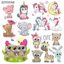 ZOTOONE Unicorn Stripes Iron on Transfer Patches Clothing Diy Dog Patch Heat for Clothes T-shirts Girl Sticker I