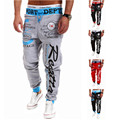 Pantalones 2016 de La Venta Caliente Baggy Harem Baggy Hombres Impresión de la Letra fresco Pantalones Largos Corredores Desgaste 21 Estilos Tallas M-XXXL cordón