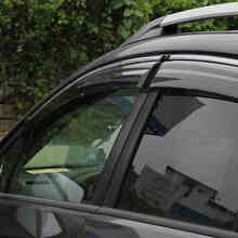 ABAIWAI Auto Car Window Protector PC Stainless Steel Visor Shades Awnings For Subaru XV 2012 2017