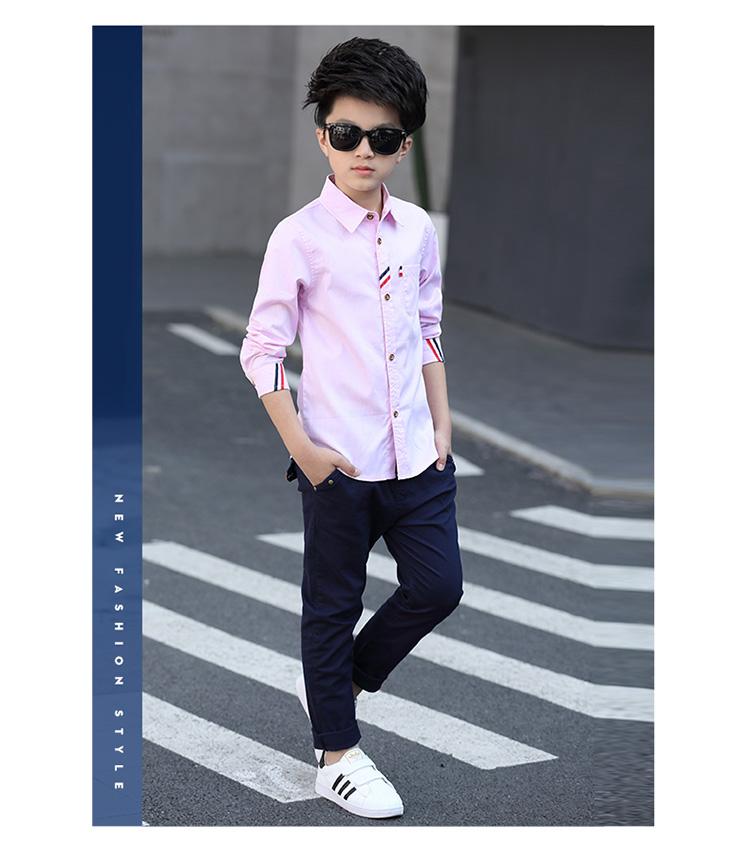 HTB1ta81PpXXXXbjXpXXq6xXFXXXP - 2017 Boys Clothes New Spring Autumn Boys' Cotton Casual Shirts Kids Long Sleeve Shirt Boys Blouses Turn-Down Collar Shirt