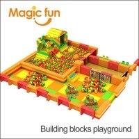 Волшебный весело building block кирпичей построить игрушка, epp строительные блоки площадка