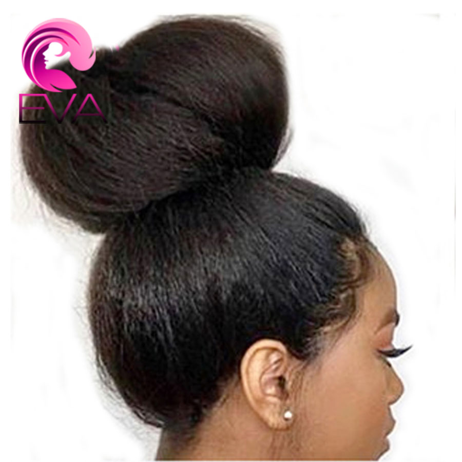 Полный шнурок человеческих волос парики предварительно сорвал с волосы младенца яки прямые черные перуанский Волосы remy полные парики шнур