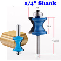 New 1 4 Shank Bullnose Bead Column Face Molding Router Bit For Woodworking Tools