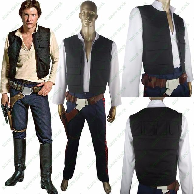 fa9b3f8ab5 Gwiezdne wojny Han Solo kostium ESB Cosplay kostium na Halloween boże  narodzenie prezent futerał na pasek