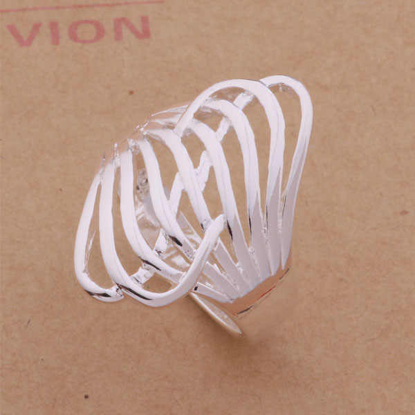 AR078 925 sterling silver ring, 925 silver fashion jewelry, multi-thread silver /afzaixga aewaiwda