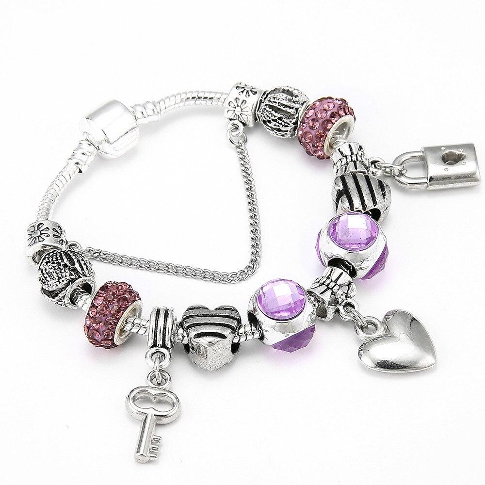 Romantic DIY Rhinestone Wrapped Charm Bracelet forecast