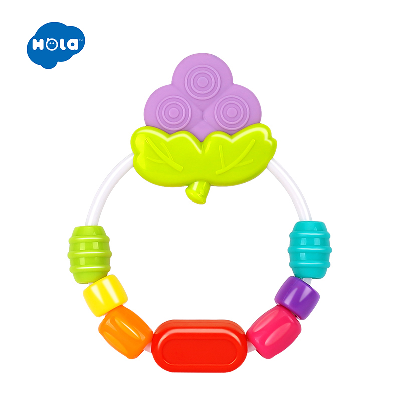 Baby Rattle Teether Rainbow Rings Crib Bed Stroller Decoration Hanging Toy