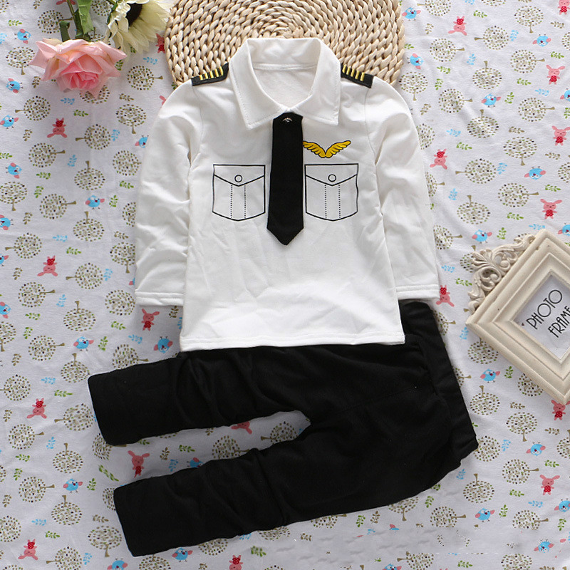 2018 new baby boy clothes suit Baby shirt tie suit 2018 spring and autumn childrens suit baby set