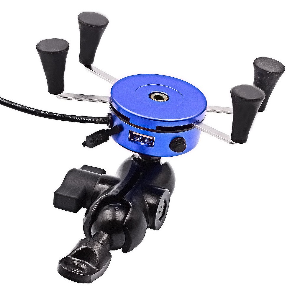 Top quality Motorcycle mobile phone holder car mobile phone rack /navigation support USB charging belt switch,car styling