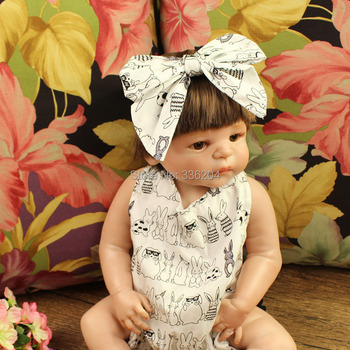 Cute Rabbit Print Bohemia baby Girls Pompom Cottom Romper with Headband
