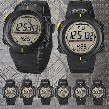 Hombres de la manera LED de Retroiluminación Semana Fecha Alarma Cronómetro Digital de Los Deportes Reloj de Pulsera