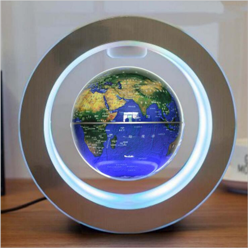 LED Magnetic Levitation Globe Novelty Lights Anti-gravity Creative Night Light Home Decoration Lights High-end Gift