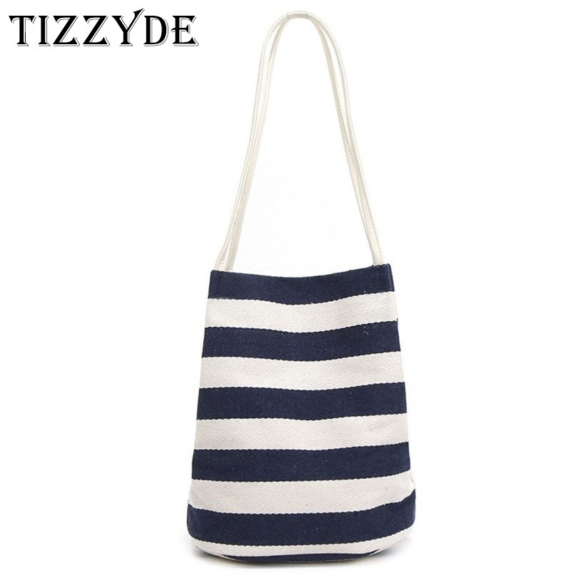 Bags Stripes Tote Ladies Canvas Female Travel Beach Casual Bag Messenger Shoulder Shopping Bags ZGW04-C