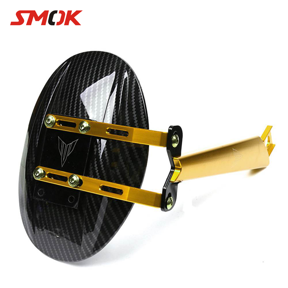 SMOK Motorcycle CNC Aluminum Alloy Carbon Fiber Rear Fender Cover Mudguards For Yamaha MT-09 MT09 MT 09 FZ09 FZ-09 2014-2017