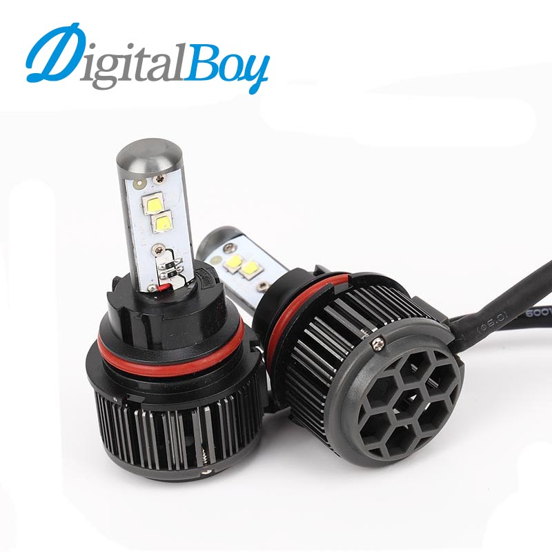 Digitalboy Hi/Low Beam H13 Car LED Headlight Bulb 70W 8000LM 6000K High Low Beam Car Auto Headlamp Front Fog Light Car Lighting newest h4 led car headlight h1 h8 hig led light 9005 9006car led headlight bulb auto headlamp lamp high low beam white lighting