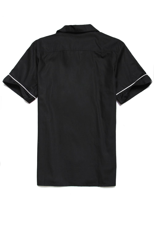 Top-Markenhemd aus Baumwolle im neuen Stil mit Stickerei Rockabilly - Herrenbekleidung - Foto 2