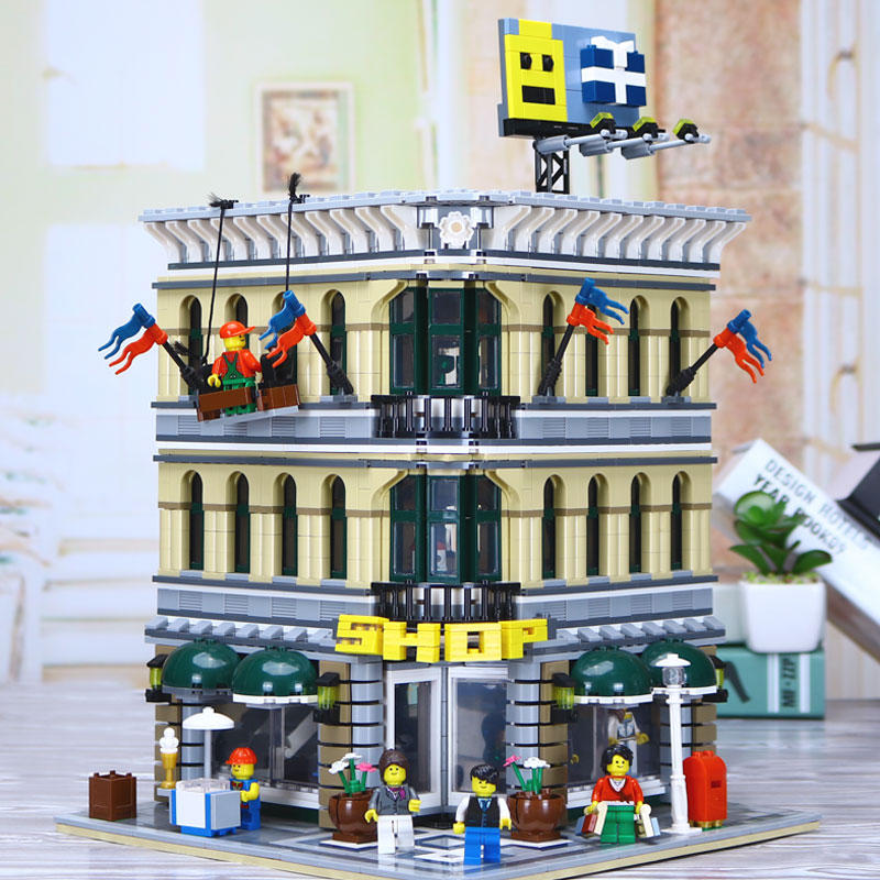 New Lepin 15005 2232pcs City Grand Emporium Model Building Blocks Funny Educational Brick Toys Compatible legolyes 10211