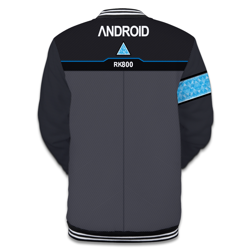 2018 3d Detroit Become Human Jacket Coat With High Quality 3d Baseball Jacket Fashion Soft Detroit Become Human Jacket Women High Quality And Inexpensive