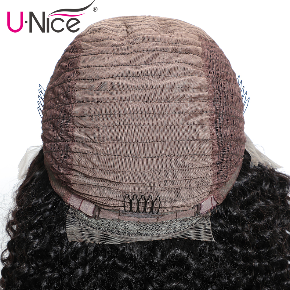 HTB1taAbb2c3T1VjSZPfq6AWHXXaN Unice Hair 13x4 Short Lace Front Human Hair Bob Wigs Water Wave Brazilian Remy Hair Lace Wig Pre Plucked Hairline