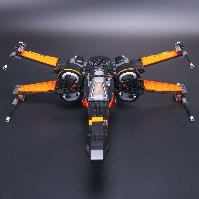 IN STOCK Lepin 05004 845pcs Star plan First Order Poe's X-wing Fighter Assembled Toy Building Block legoISY 75102 Christmas gift