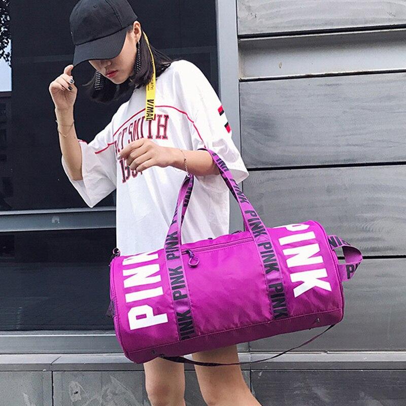 2019 Men Women Travel Bag Shoulder Bag  Portable Large Capacity Waterproof Pink Women Handbag Duffel Bag VS Bag Weekend Package