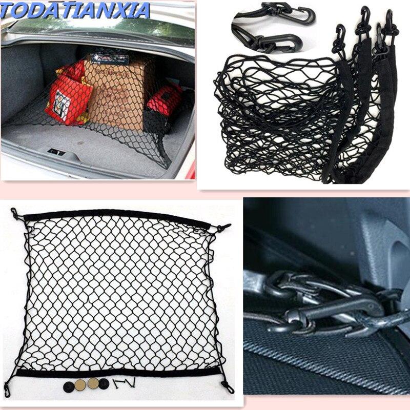 2018 New Car Storage Net Bag Trunk Organizer For Alfa Romeo 147 Ford Mondeo Mk3 Peugeot 208 Renault Captur Dacia Duster Golf Mk5